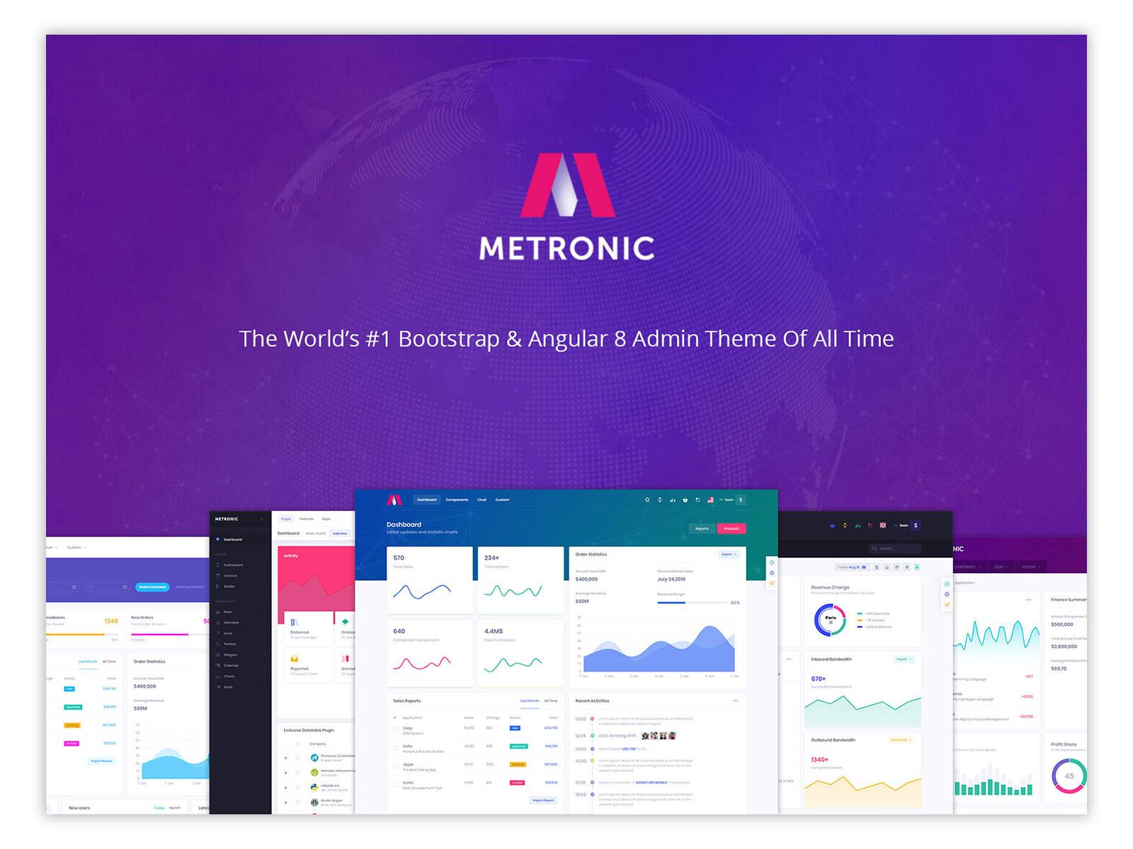Metronic Responsive Admin Dashboard Template