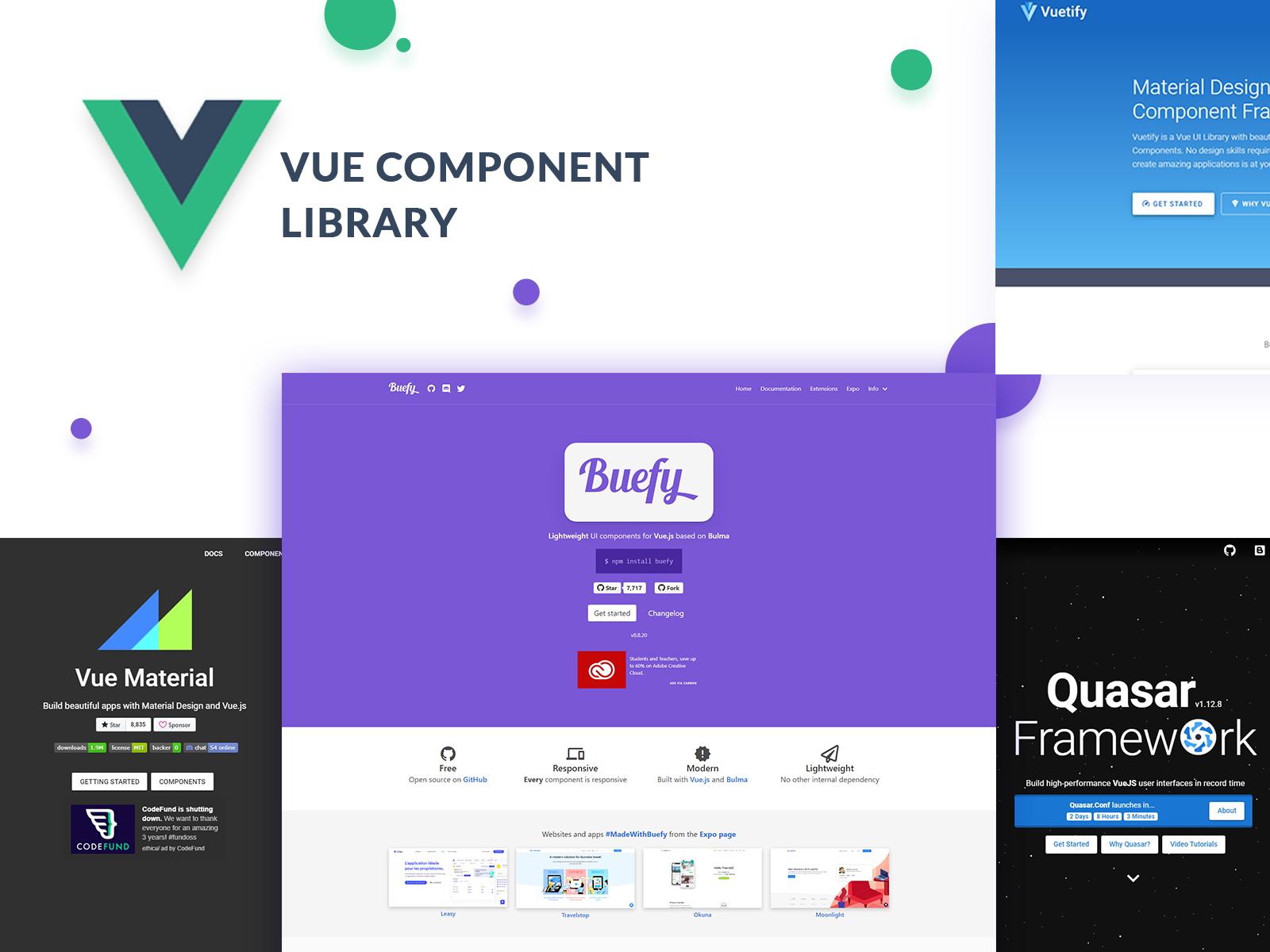 Vue component libraries